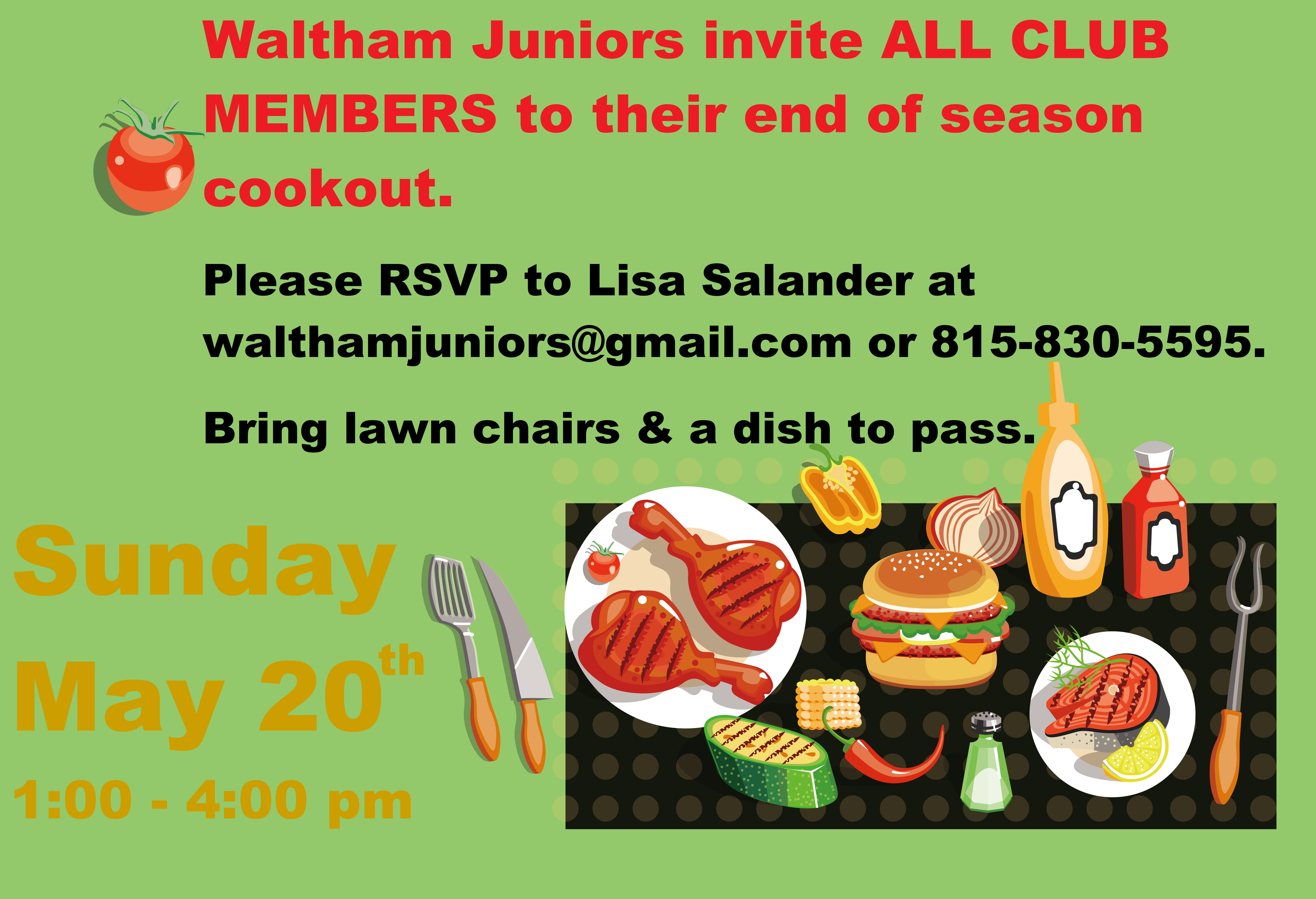 Juniors Cookout